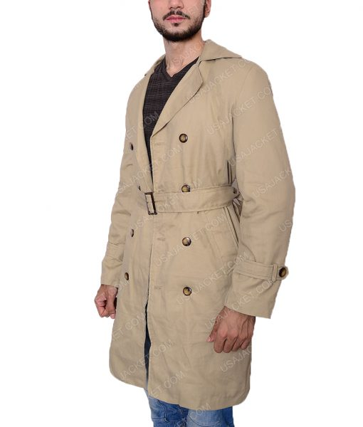 Supernatural Castiel Double Breasted Trench Coat