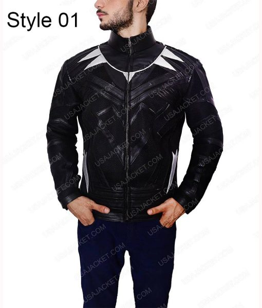 Chadwick Boseman Black Panther Leather Jacket