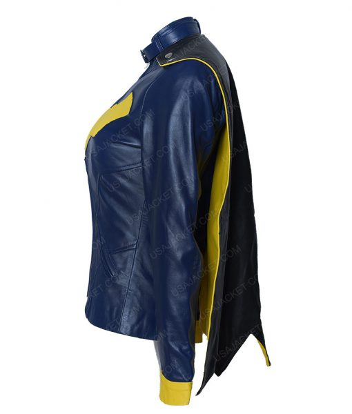 DC Comics BatGirl Cafe Racer Leather Jacket