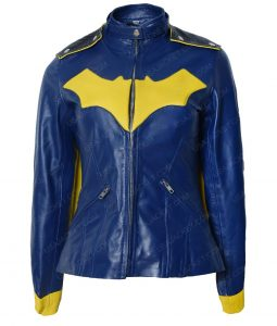 DC Comics BatGirl Blue Cafe Racer Jacket