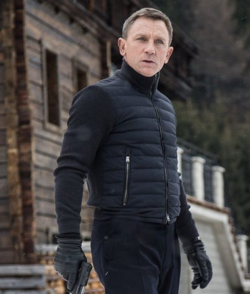 James Bond Spectre Solden Puffer Jacket