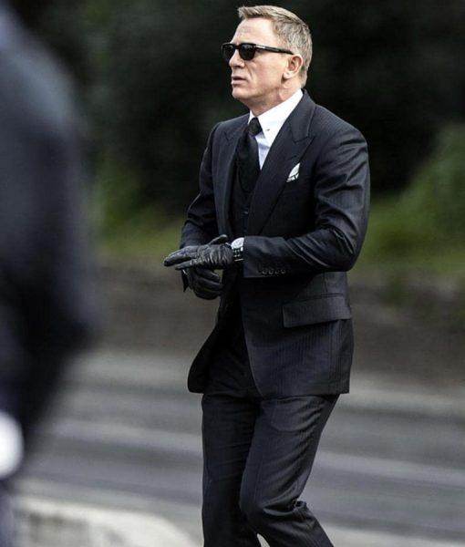 Spectre Daniel Craig Herringbone Suit