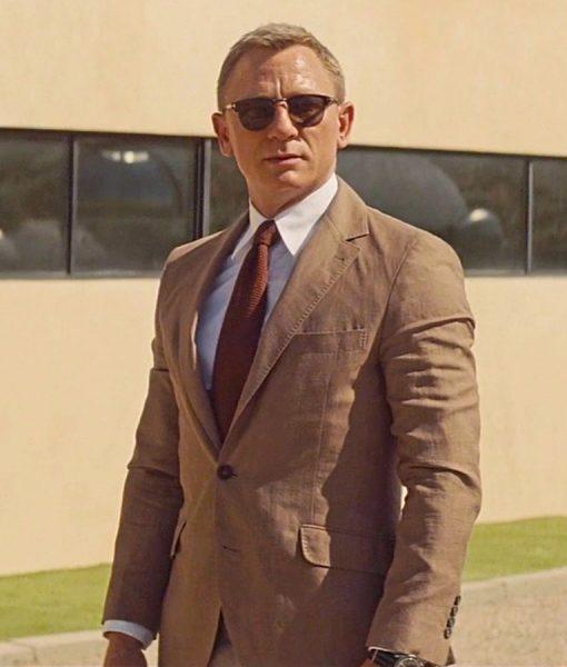 James Bond Daniel Craig Brown Spectre Suit