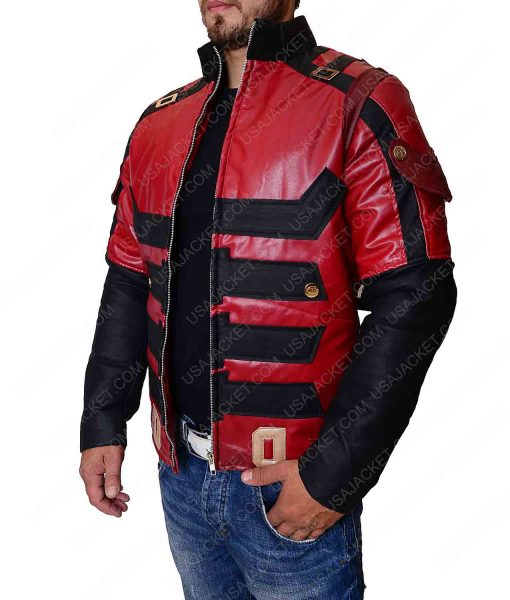 Charlie Cox Daredevil Red Leather Jacket