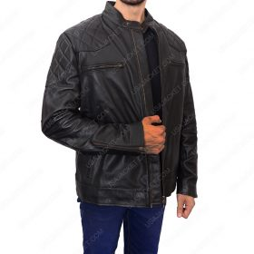 David Beckham Leather Biker Jacket