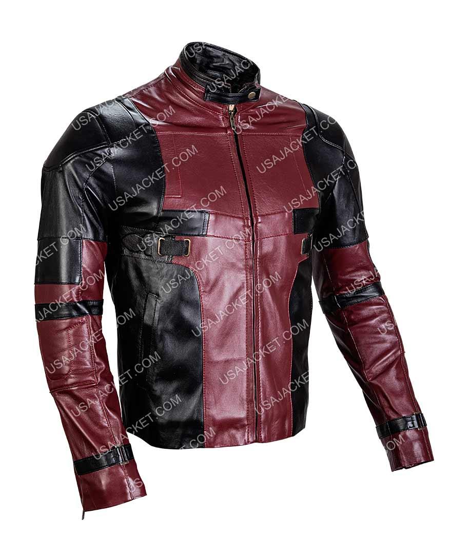 73942b410 Deadpool Leather Jacket