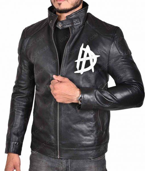 Dean Ambrose 'DA' Logo Leather Jacket
