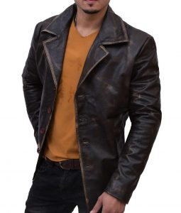 Supernatural Distress Leather Coat
