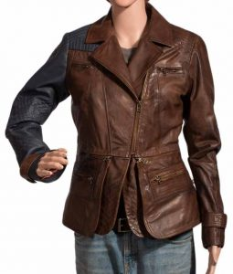 Defiance Julie Benz Brown Jacket