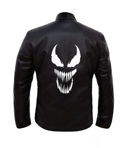 Eddie Venom Black Leather Jacket