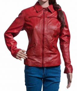 Once Upon A Time Red Leather Jacket Emma Swan
