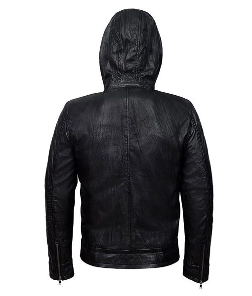 Tom Cruise Mission Impossible 4 Black Hooded Jacket