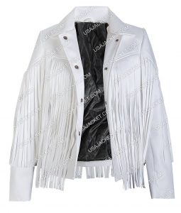 Sloane Peterson White Fringe Jacket