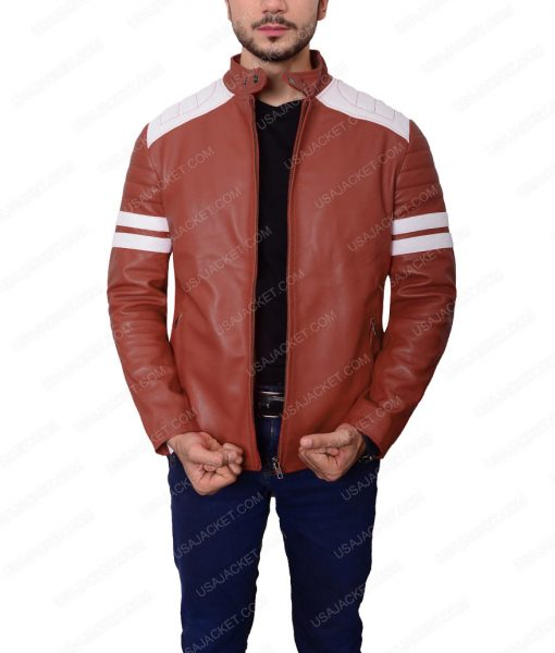 Brad Pitt Red Leather Jacket
