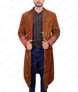 Malcolm Reynolds Firefly Brown Suede Leather Coat