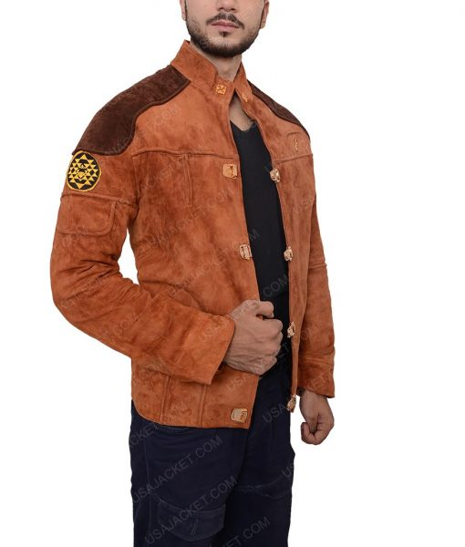 Warrior Viper Pilot Battlestar Galactica Brown Suede Jacket