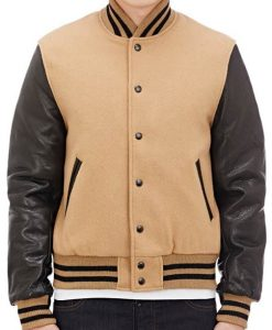 Leather Sleeves Golden Bear Jacket