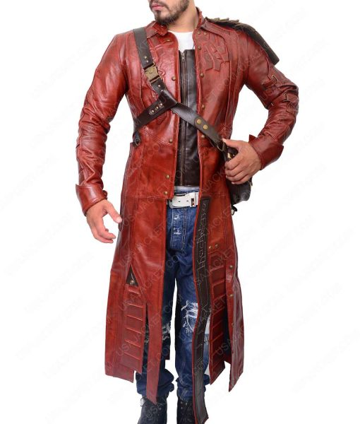 Chris Pratt Guardians Of The Galaxy Star Lord Long Leather Coat