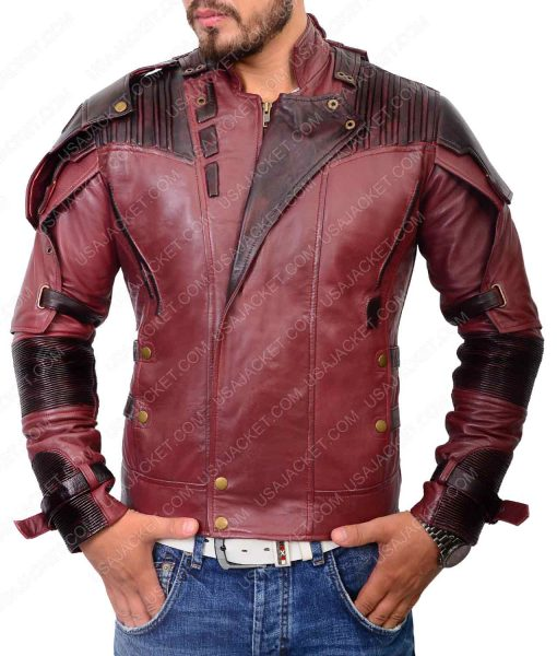 Star Lord Guardians of the Galaxy Peter Quill Leather Jacket