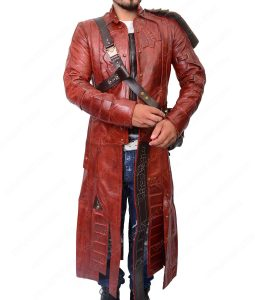 Guardians Of The Galaxy Chris Pratt Red Long Trench Jacket