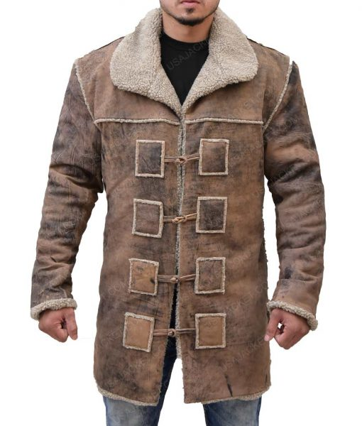Hell On Wheels Cullen Bohannon Shearling Detailed Coat
