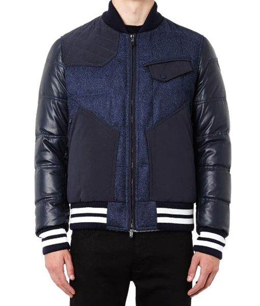 Ink Blue Varsity Jacket