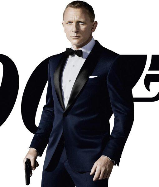 Daniel Craig 007 Skyfall Tuxedo Suit