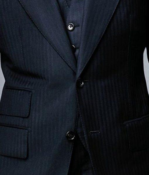 Daniel Craig Spectre Herringbone 3 Piece Suit