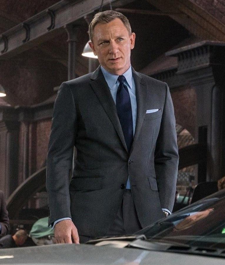 spectre james bond pinstripe grey suit