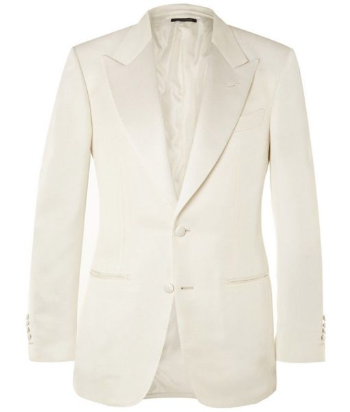 James Bond Spectre White Dinner Tuxedo