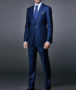 James Bond Spectre Daniel Craig Windowpane Blue Suit