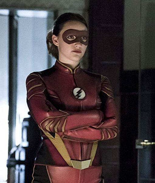 Jesse Quick The Flash Leather Jacket