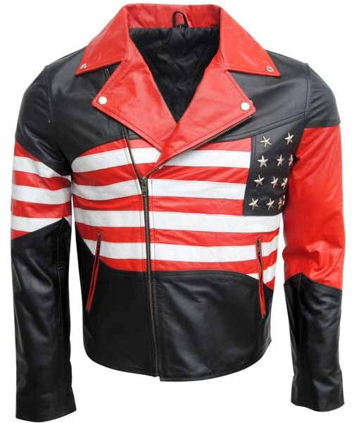 Mens American Flag Jacket