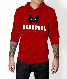 Mens Deadpool Eye Logo Hoodie