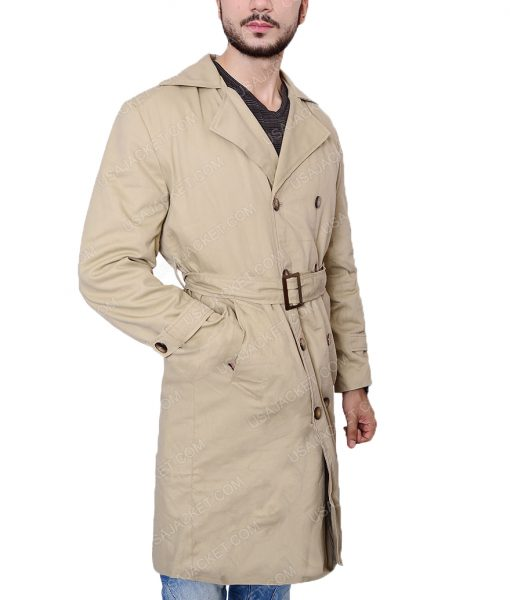 Misha Collins Supernatural Castiel Double Breasted Trench Coat