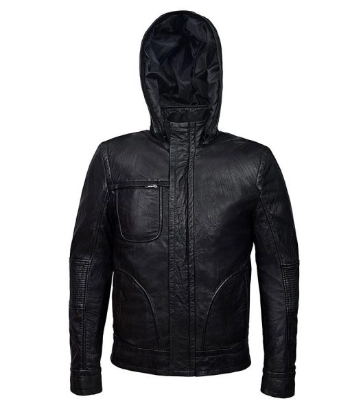 Mission Impossible 4 Tom Cruise Slimfit Black Hooded Jacket