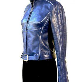 Emma Swan Jennifer Morrison Blue Leather Jacket