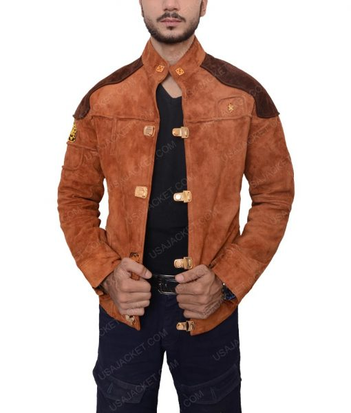 Pilot Battlestar Galactica Brown Suede Jacket