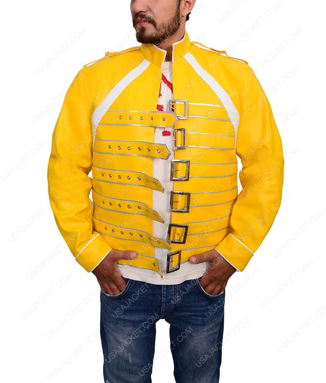 6e08422d0 Freddie Mercury Jacket | Quick Rock Band Yellow Jacket
