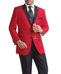 Red And Black Mens Tuxedo