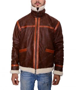 Leon Kennedy Resident Evil 4 Shearling Jacket