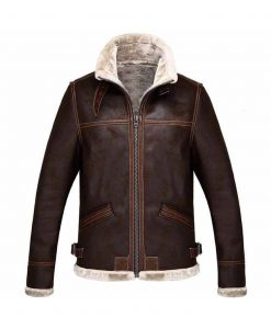 Resident Evil 4 Shearling Brown Jacket