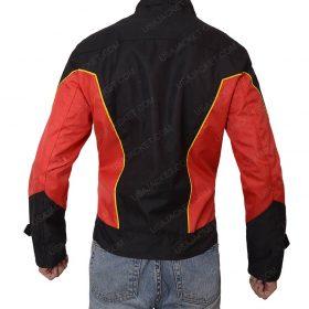 Robin Tim Drake Red Slimfit Leather Jacket