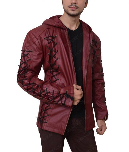 Roy Harper Red Arrow Arsenal Hooded Jacket