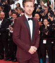 Ryan Gosling Burgundy Tuxedo Suit