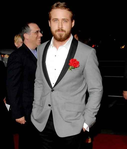 Ryan Gosling Grey Tuxedo Suit