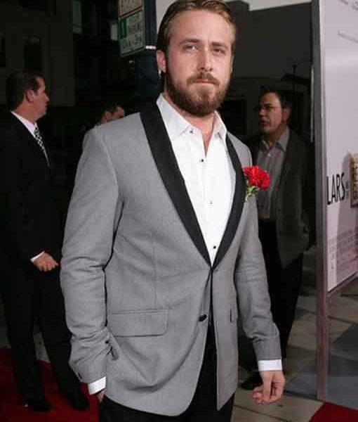 Ryan Gosling Grey Tuxedo Jacket