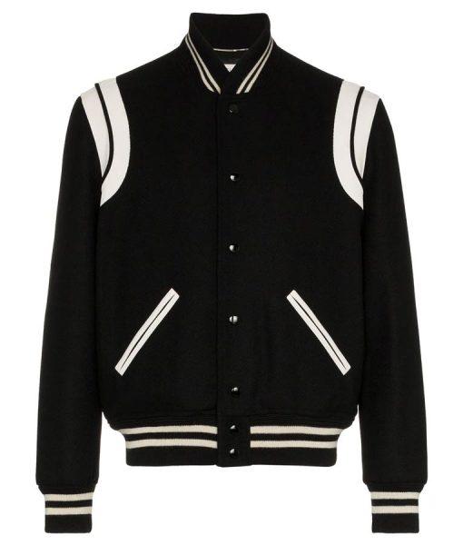 SLP Teddy Black Varsity Jacket