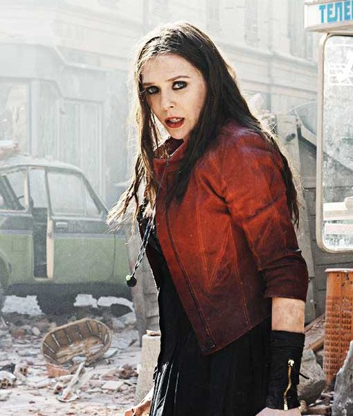 Scarlet Witch Red Leather Jacket