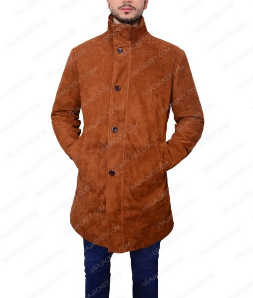 Sheriff Walt Suede Leather Coat